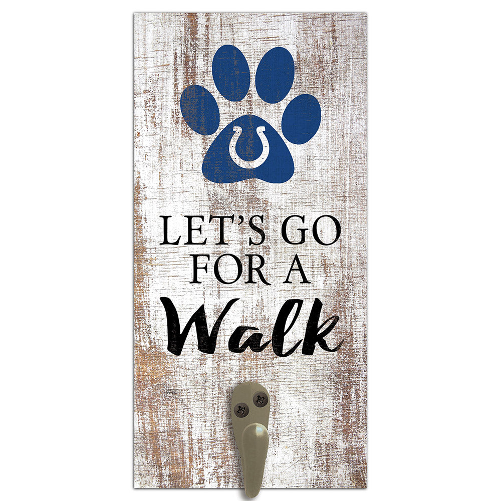 Indianapolis Colts Leash Holder 6x12 Sign