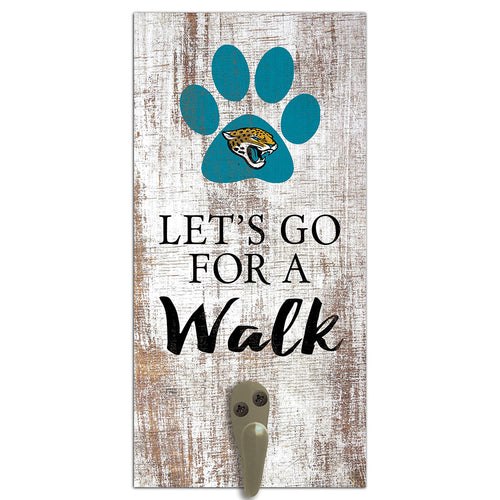 Jacksonville Jaguars Leash Holder 6x12 Sign