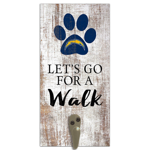 Los Angeles Chargers Leash Holder 6x12 Sign