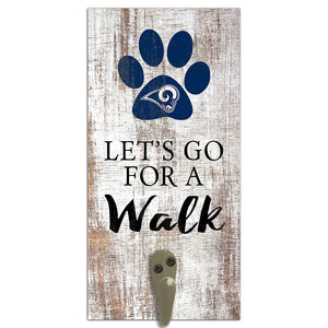 Los Angeles Rams Leash Holder 6x12 Sign