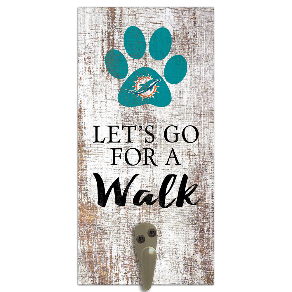 Miami Dolphins Leash Holder 6x12 Sign
