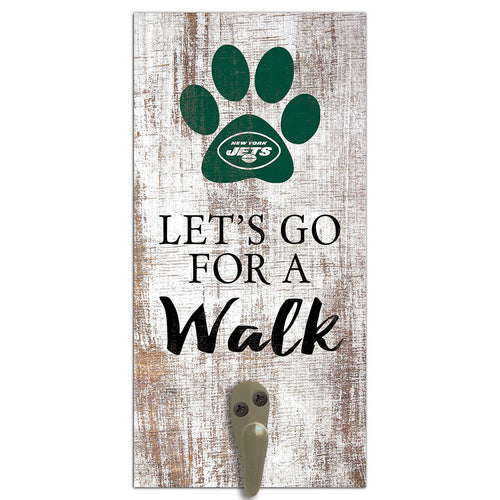 New York Jets Leash Holder 6x12 Sign