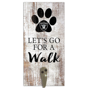 Oakland Raiders Leash Holder 6x12 Sign