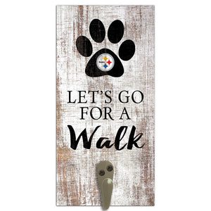 Pittsburgh Steelers Leash Holder 6x12 Sign
