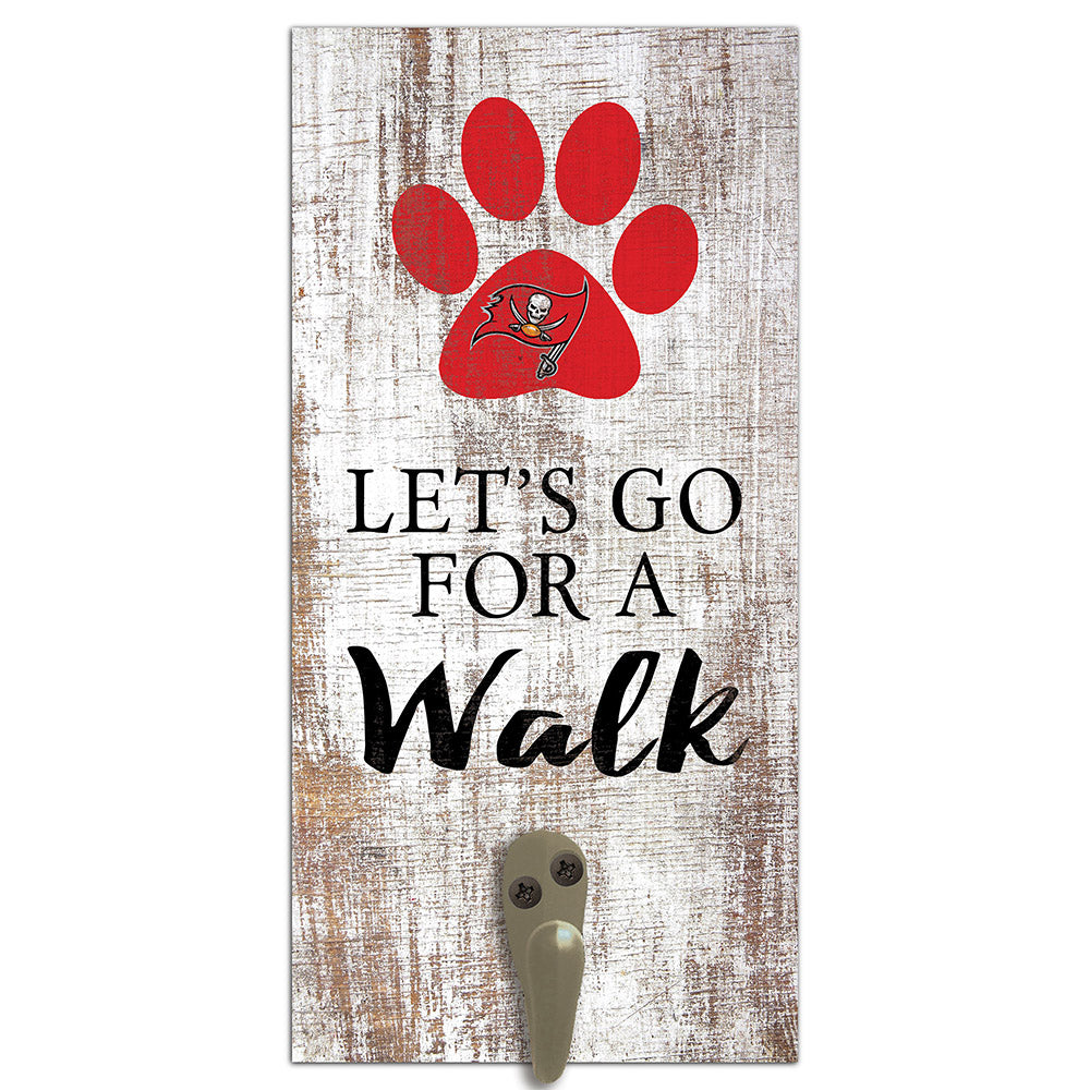 Tampa Bay Buccaneers Leash Holder 6x12 Sign
