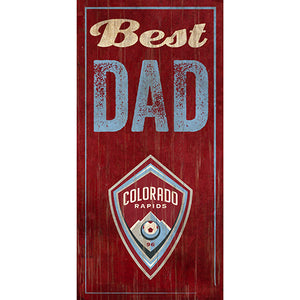 Colorado Rapids Best Dad 6x12
