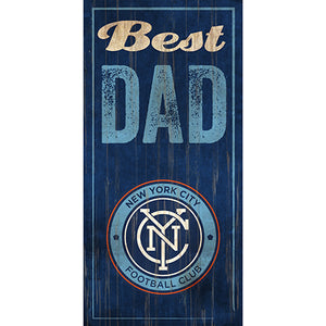 New York City FC Best Dad 6x12