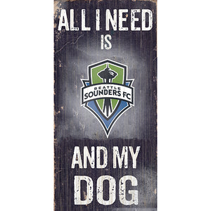 Seattle Sounders Soccer and My Dog Sign