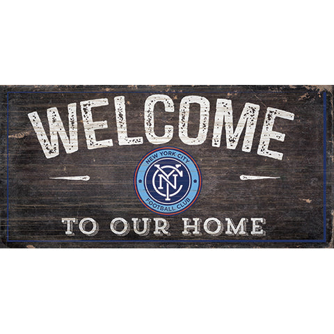 New York City FC Welcome Sign