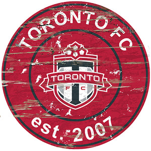 Toronto FC Round Distressed Sign