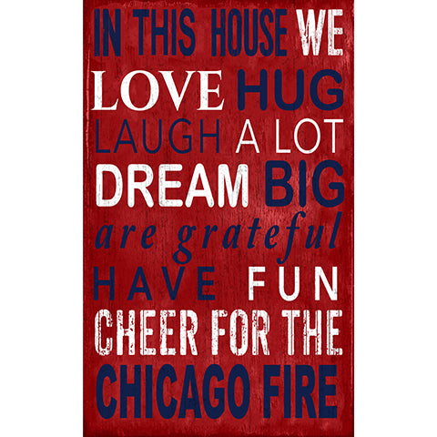 Chicago Fire In This House 11x19 Sign