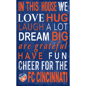 FC Cincinnati In This House 11x19 Sign