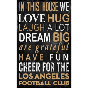 Los Angeles FC In This House 11x19 Sign