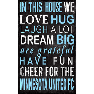 Minnesota United In This House 11x19 Sign
