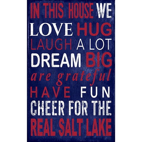 Real Salt Lake In This House 11x19 Sign