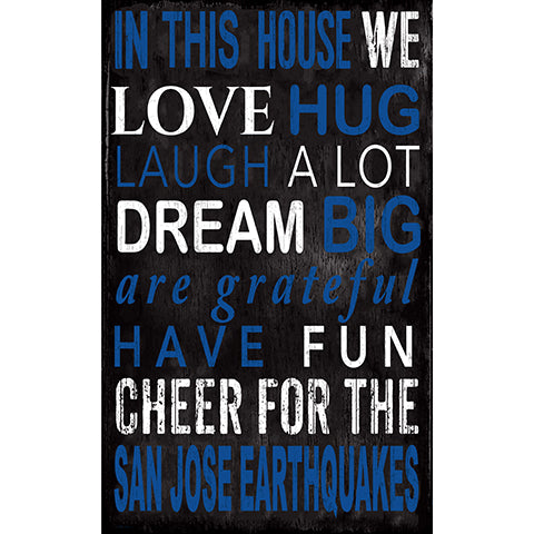 San Jose Earthquakes In This House 11x19 Sign
