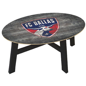 FC Dallas Distressed Wood Coffee Table