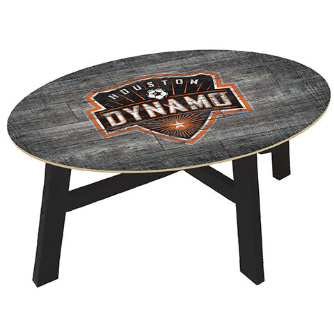 Houston Dynamo Distressed Wood Coffee Table