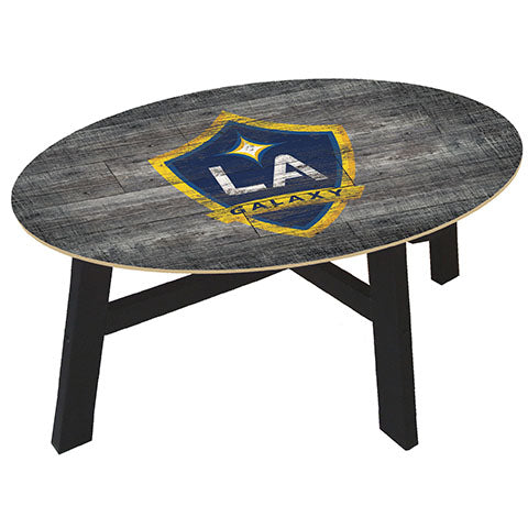 LA Galaxy Distressed Wood Coffee Table