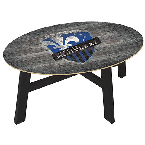 Montreal Impact Distressed Wood Coffee Table