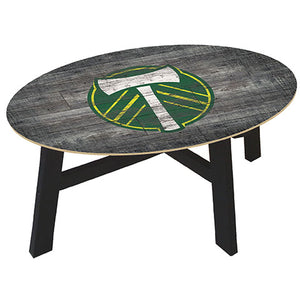 Portland Timbers Distressed Wood Coffee Table