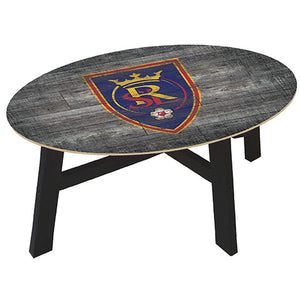Real Salt Lake Distressed Wood Coffee Table
