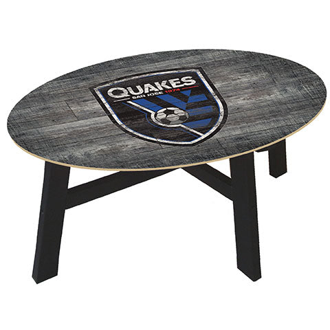 San Jose Earthquakes Distressed Wood Coffee Table