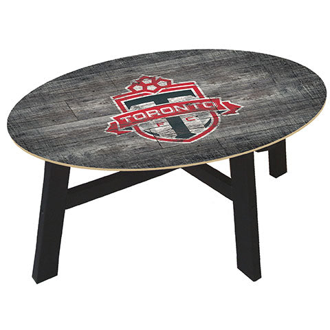 Toronto FC Distressed Wood Coffee Table