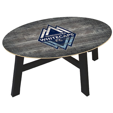 Vancouver Whitecaps Distressed Wood Coffee Table