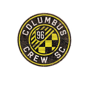 Columbus Crew Distressed Logo Cutout Sign