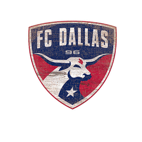 FC Dallas Distressed Logo Cutout Sign