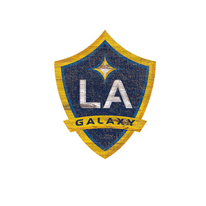 LA Galaxy Distressed Logo Cutout Sign