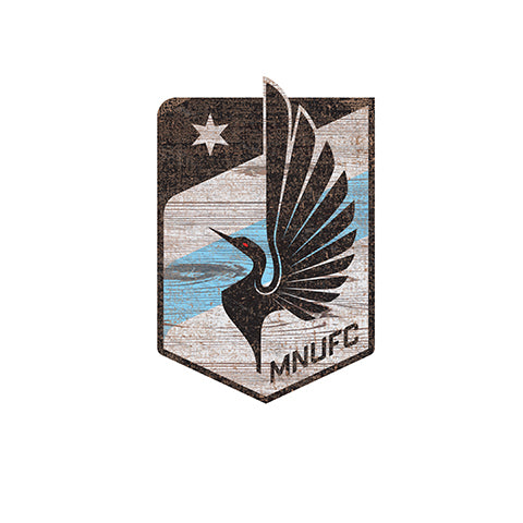 Minnesota United Distressed Logo Cutout Sign