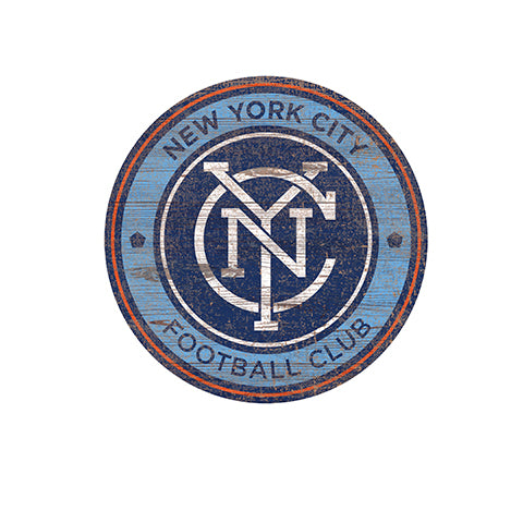 New York City FC Distressed Logo Cutout Sign