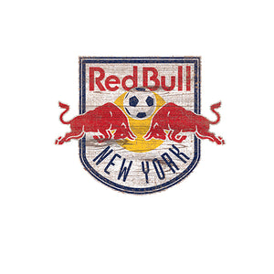 New York Red Bulls Distressed Logo Cutout Sign