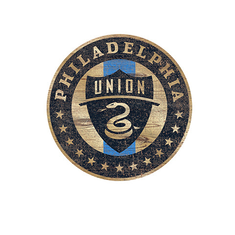 Philadelphia Union Distressed Logo Cutout Sign