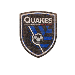 San Jose Earthquakes Distressed Logo Cutout Sign