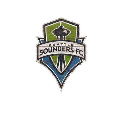 Seattle Sounders Distressed Logo Cutout Sign