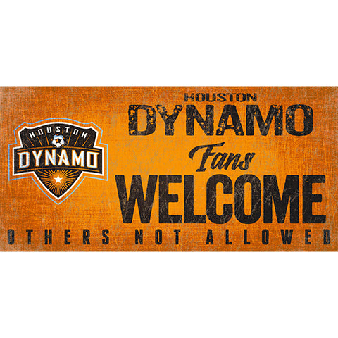 Houston Dynamo Fans Welcome 6x12