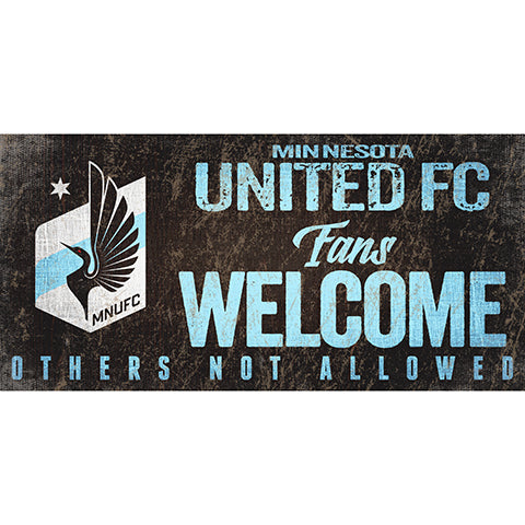 Minnesota United Fans Welcome 6x12