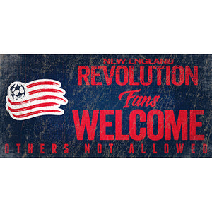 New England Revolution Fans Welcome 6x12