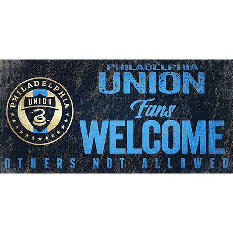 Philadelphia Union Fans Welcome 6x12