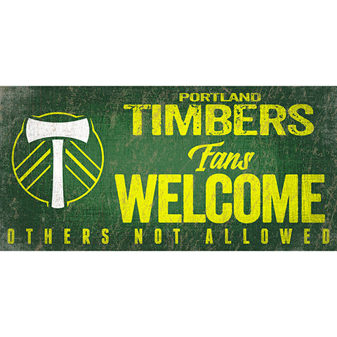 Portland Timbers Fans Welcome 6x12