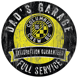 Columbus Crew Dad's Garage Sign