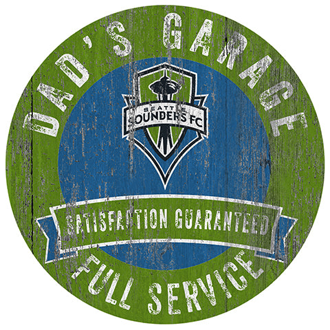 Seattle Sounders Dad's Garage Sign