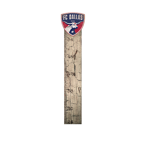 FC Dallas Growth Chart Sign 6x36
