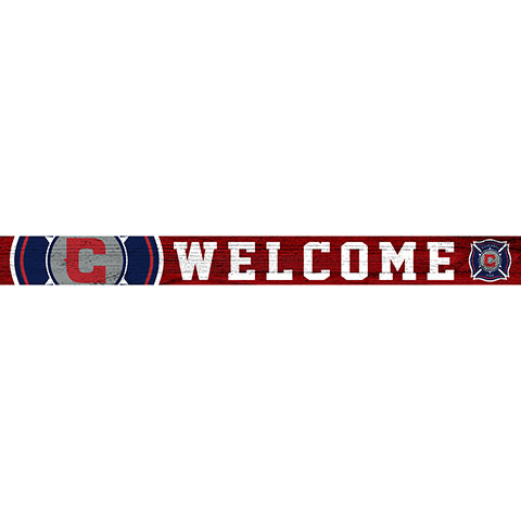 Chicago Fire 16in. Welcome Strip