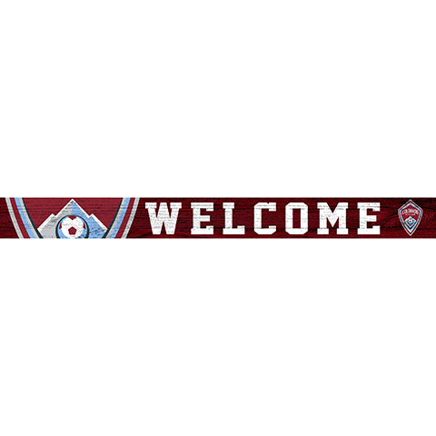 Colorado Rapids 16in. Welcome Strip