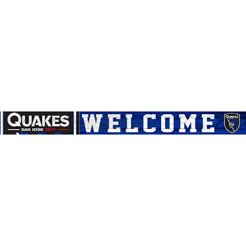 San Jose Earthquakes 16in. Welcome Strip