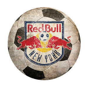 "New York Redbulls 12"" Soccer Shaped Sign"